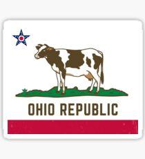 Ohio Republic Flag Sticker
