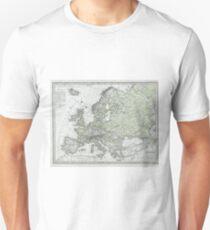 Vintage Map of Europe (1862) T-Shirt