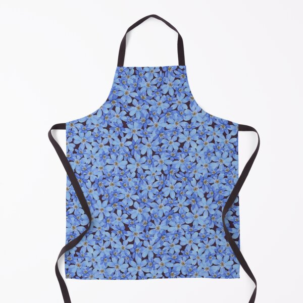 Blue spring watercolor flower seamless pattern Apron