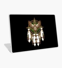 Barred Owl Native American Mandala Laptop Skin