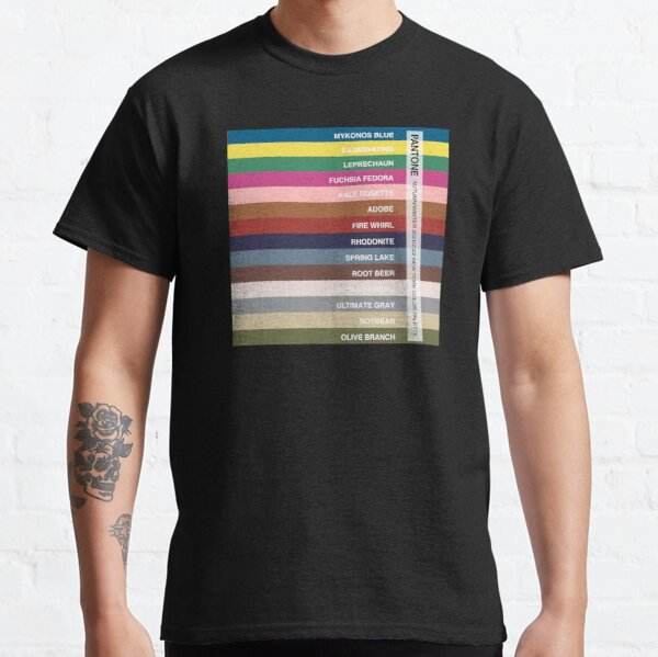 New York Fashion Week Color Palette, Autumn/Winter 2021/2022 (Pantone - all 14 colors, with labels) Classic T-Shirt