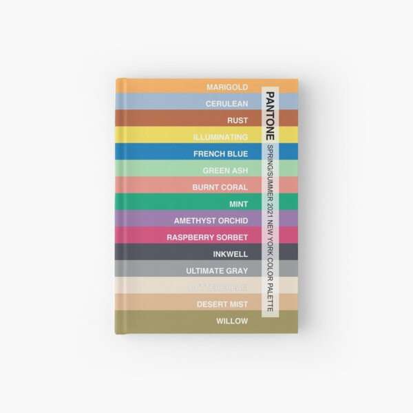 New York Fashion Week Color Palette, Spring/Summer 2021 (Pantone - all 15 colors, with labels) Hardcover Journal