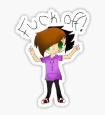 """Aryan """"Fuck Off!"""" Emoticon Sticker"""