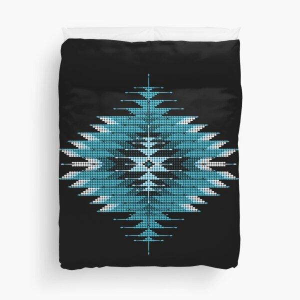 Native American Southwest-Style Turquoise Sunburst Duvet Cover