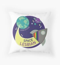 Certified Space Lesbian Throw Pillow