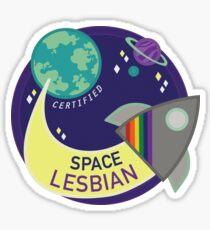 Certified Space Lesbian Sticker