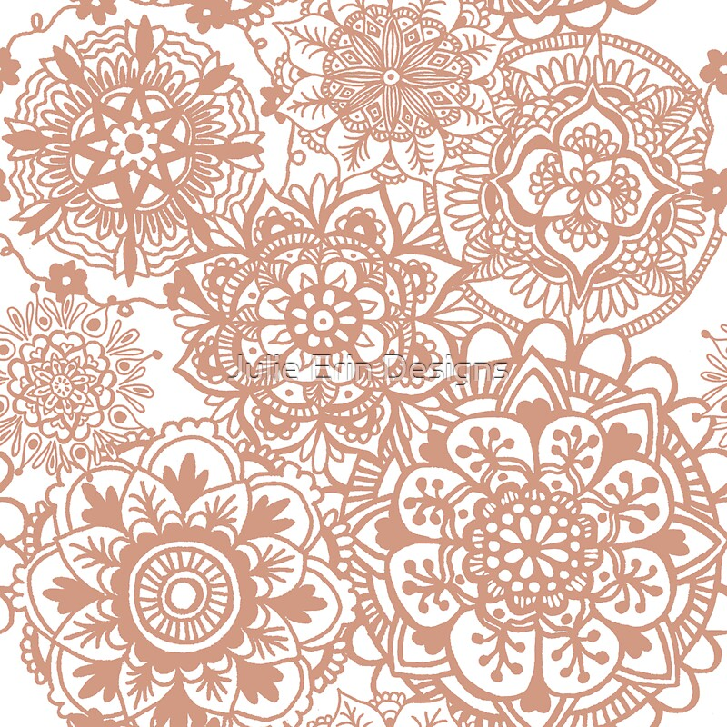 Quot Rose Gold Mandala Pattern Quot Stickers By Julieerindesign