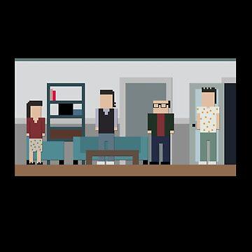 8-bit Seinfeld by bestnevermade