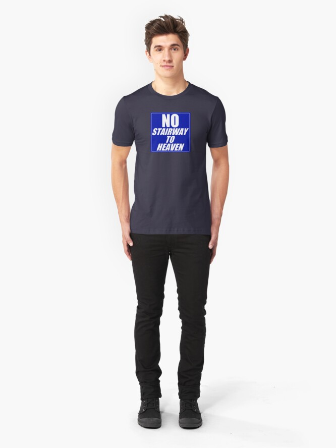 Alternate view of No Stairway to Heaven Slim Fit T-Shirt
