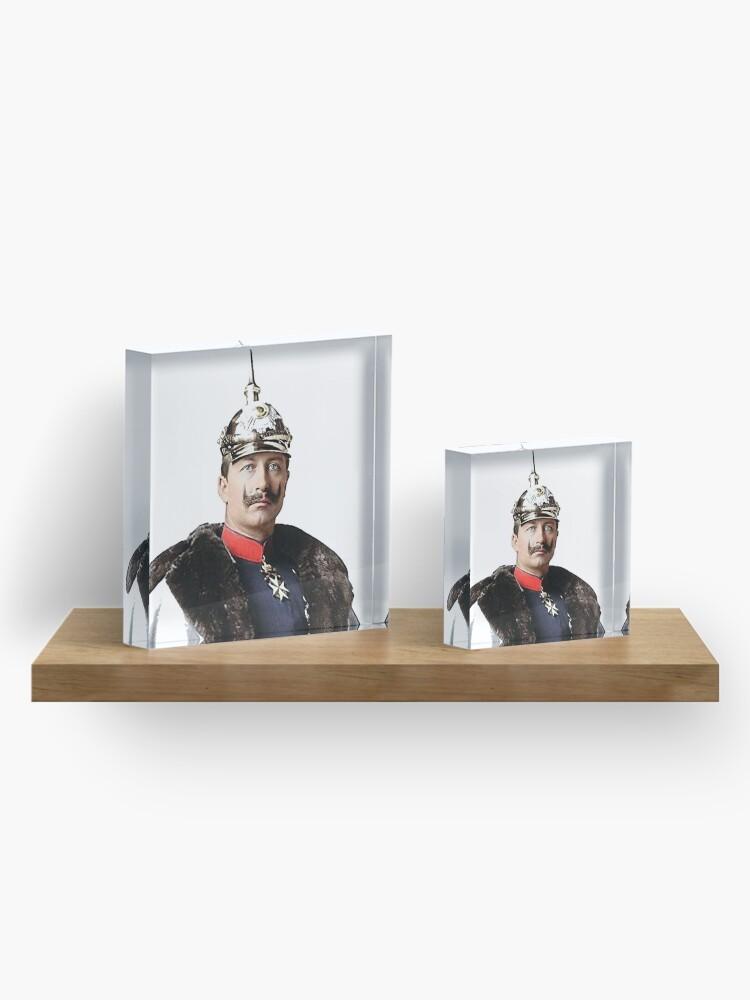 Alternate view of Kaiser Wilhelm II photo portrait  Acrylic Block