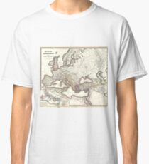 Vintage Map of The Roman Empire (1865) Classic T-Shirt