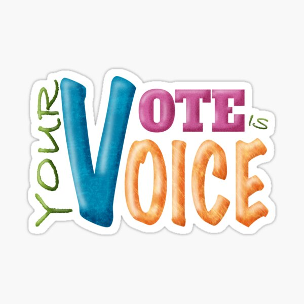 Your Vote is Your Voice Sticker