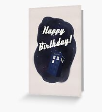 Time and Relative Dimension in Birthdays Greeting Card