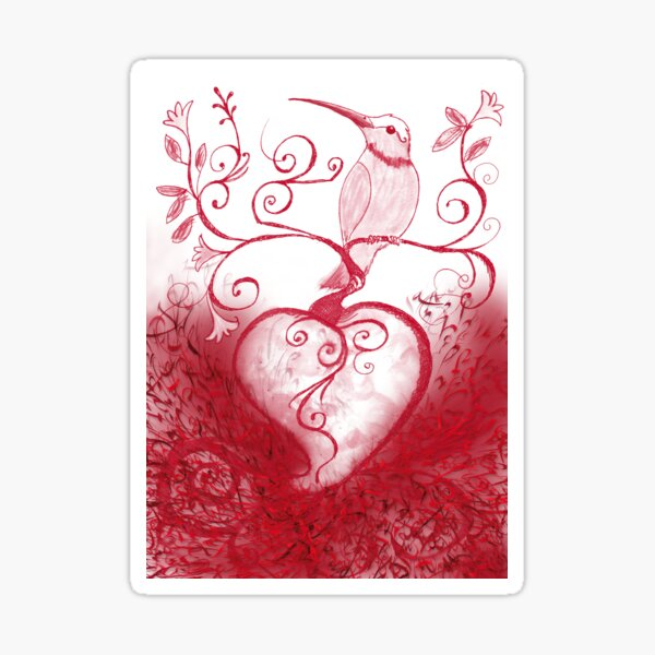 Heartbird Sticker