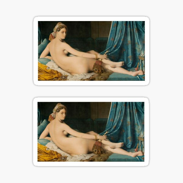 The Grand Odalisque By Jean Auguste Dominique Ingres 1814 Sticker
