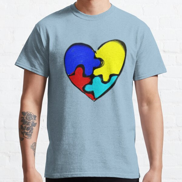 Autism Awareness Heart Classic T-Shirt