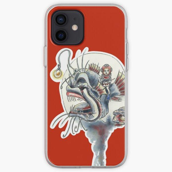 Trommelmädchen, Mädchen, Anglerfisch, Liebe, Trommel, Meer, Ozean, Unter Wasserwelt, Wasserwelt, Tierschutz, Save Our Planet iPhone Flexible Hülle