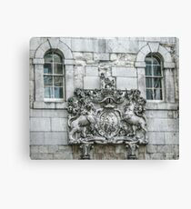 Royal Coat of Arms on the Tower of London Entrance Canvas Print