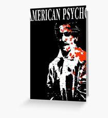 American Psycho Patrick Bateman Greeting Card