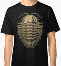 Fossil Record - Golden Trilobite on Black #1 Classic T-Shirt