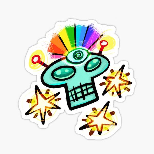 Alien Skull Sticker