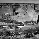 Water in Canyon De Chelly ~ Black & White by Lucinda Walter