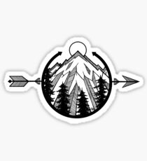 Peaceful Mountain Sticker