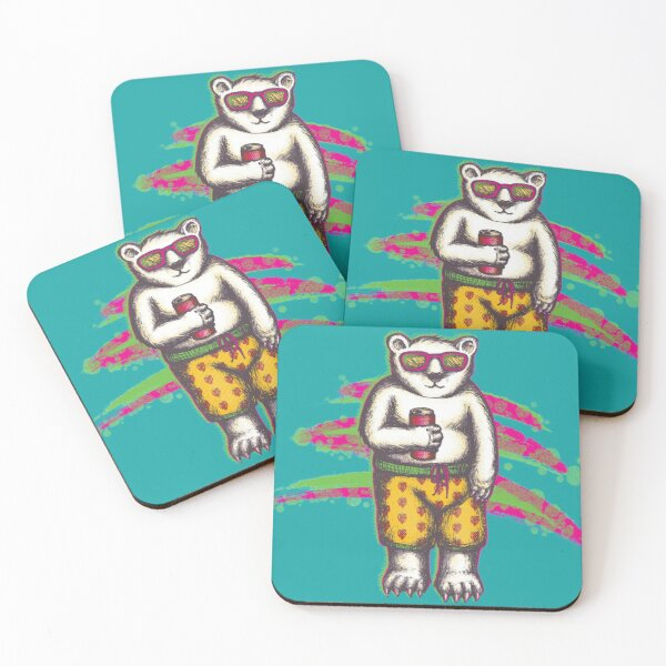 Vacation Vibes Coasters (Set of 4)