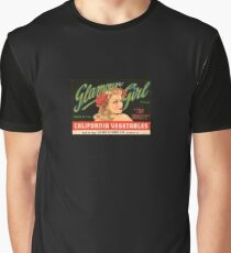 Pin Up Vegetables Logo Graphic T-Shirt