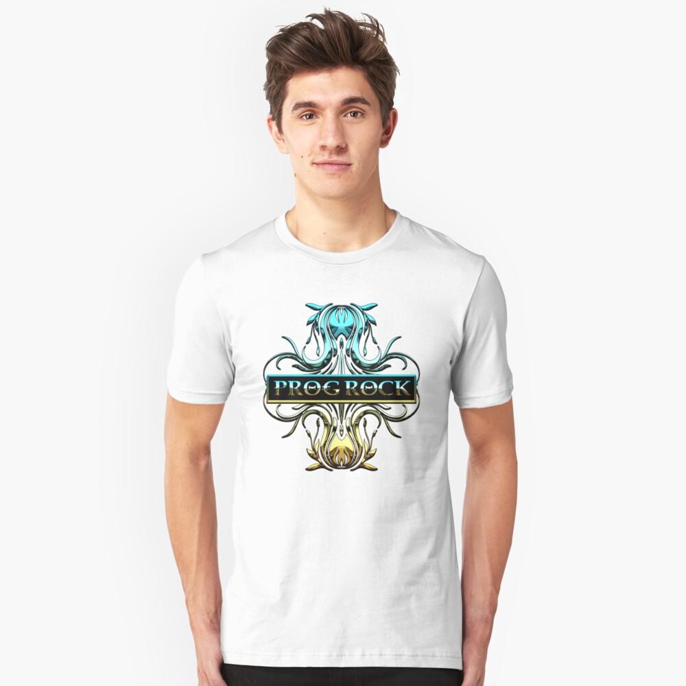 PROG ROCK - white background Unisex T-Shirt Front