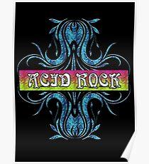 ACID ROCK - black background Poster