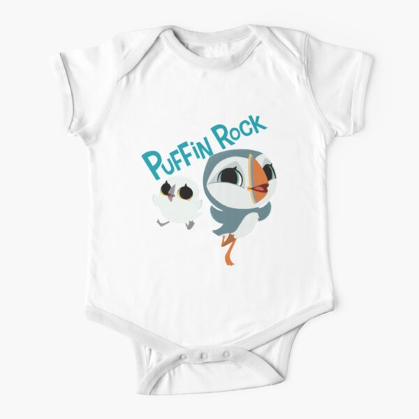 puffin rock Short Sleeve Baby One-Piece