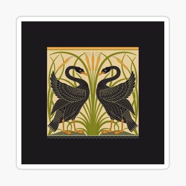 William Morris Black Swans Sticker