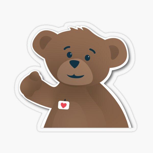 Bearville Rewritten Pointing Bear Transparent Sticker