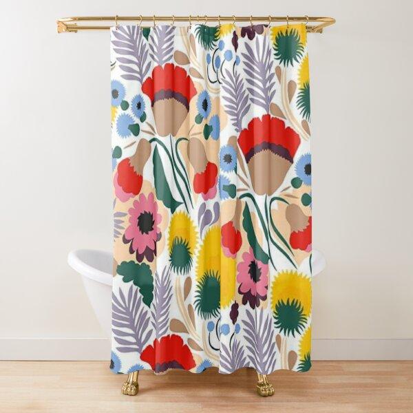 marimekko wallpaper Shower Curtain