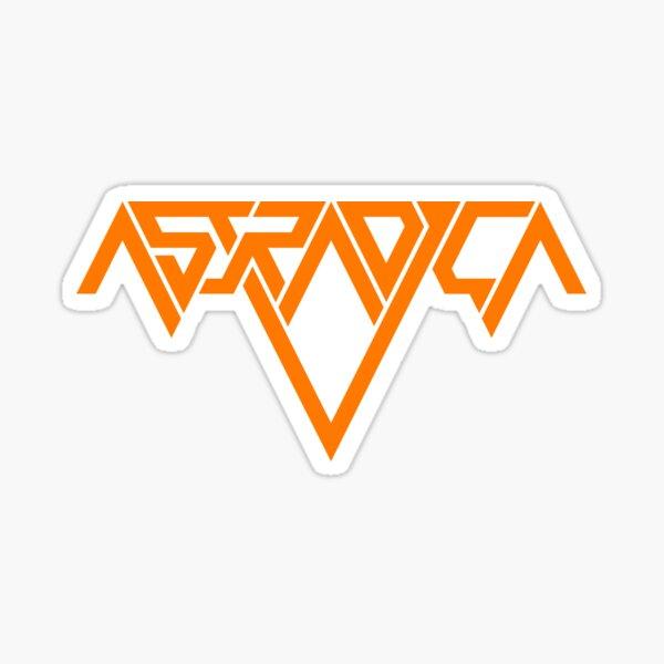 Astradica logo (orange) Sticker