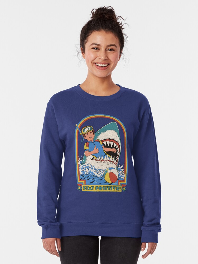 Alternate view of Stay Positive Pullover Sweatshirt