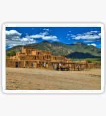 Pegatina Taos Pueblo New Mexico