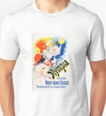 Vintage Jules Cheret 1896 Olympia Unisex T-Shirt