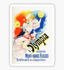 Vintage Jules Cheret 1896 Olympia Sticker