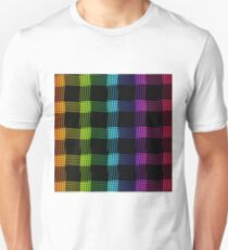 abstract colorful line background Unisex T-Shirt