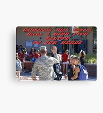 California High School Patriotic Day November 8, 2013; Whittier, CA USA Canvas Print