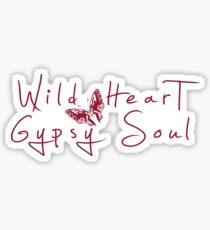 Wild Heart, Gypsy Soul - Boho Tribal Butterfly .  Sticker