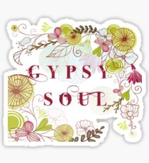 Floral Gypsy Soul .  Sticker