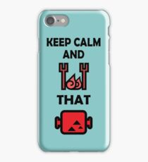 Keep Calm and BBQ that Meat iPhone Case/Skin