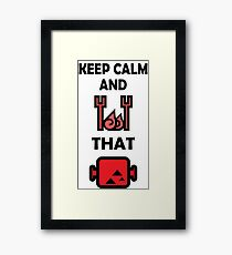 Keep Calm and BBQ that Meat Framed Print
