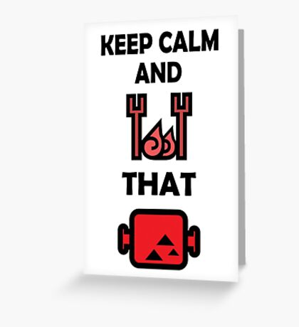Keep Calm and BBQ that Meat Greeting Card