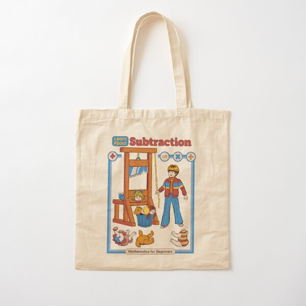 Learn About Subtraction Cotton Tote Bag