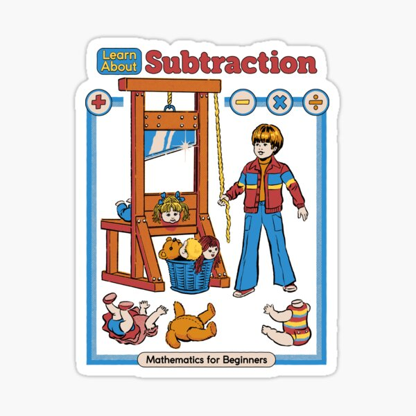Learn About Subtraction Sticker