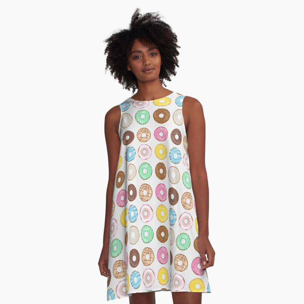 Donuts Galore A-Line Dress